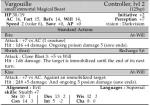 Final Vargouille monster