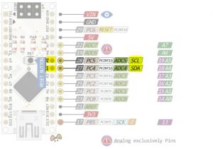 arduino Nano I2C pins