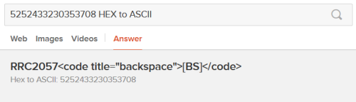 DuckDuckGo HEX to ASCII