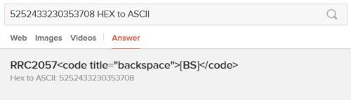 DuckDuckGo HEX to ASCII