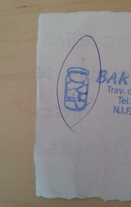 A stamp on a paper