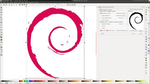 Vectorizing Debian Logo