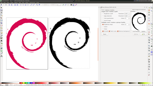 Debian Logo. It is indeed a vector