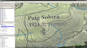 Google Earth view of Puig Sobirà
