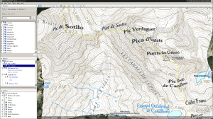 Google Earth view of Pica d'estats
