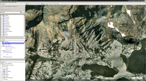 Google Earth view of Pica d'estats